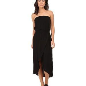 Splendid Anthropologie Black Tulip Strapless dress